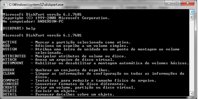 diskpart-03 Como Remover partições em pendrives