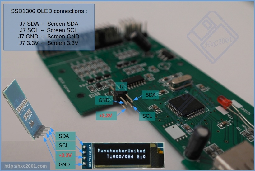 HxCGotek_I2C_SSD1306_OLED_SCREEN Mod para o Floppy Drive Gotek com Cortex